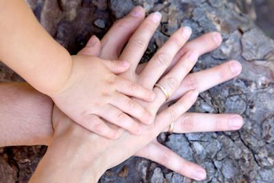 Close up of parents and child's hands | Federal Way WA