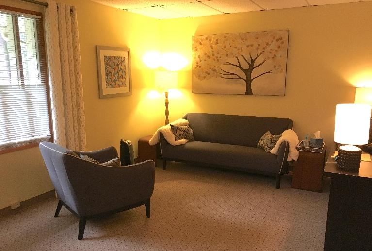 Chair and Couch in Counseling Office | Federal Way WA Therapist